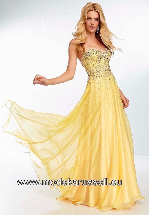 Abendkleid gelb lang