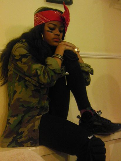 Girls with bandanas and gang sign tumblr - Google Search | Tattoo | Pinterest | Bandanas Teyana ...