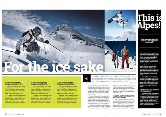 Desain Template Majalah Olahraga Prime Sport Premium Download