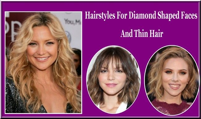 Hairstyles For Diamond Shaped Faces And Thin Hair Diamond Faces