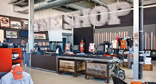 the way the sign is made The Shop - Harley Davidson Museum ...