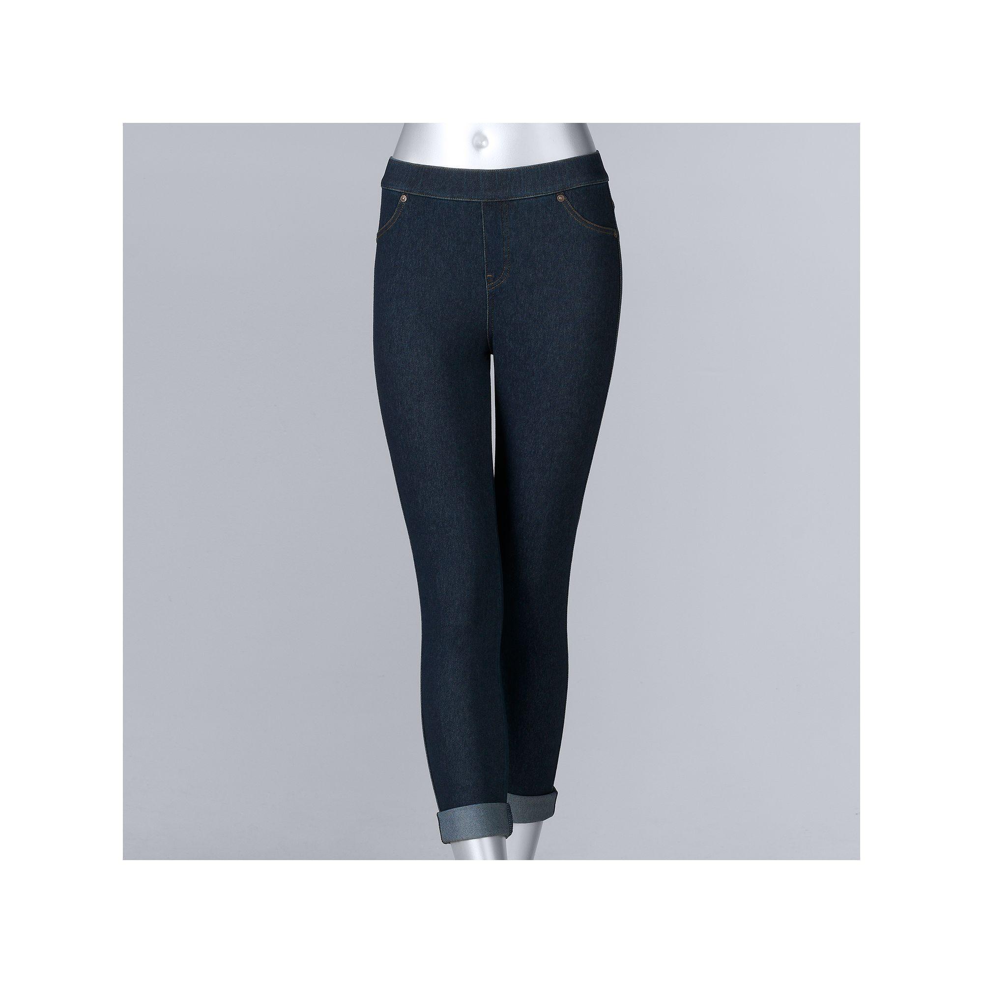 46b29c3d6a2c6 Women's Simply Vera Vera Wang Cuffed Denim Capri Leggings | Products |  Pinterest | Capri leggings, Simply vera and Vera wang