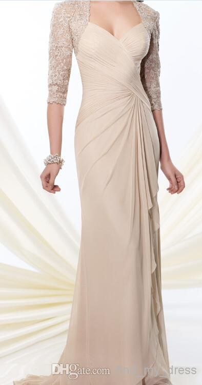 125d9a80fd397 2019 Sexy Mother Of The Bride Dresses With Half Sleeves Applique ...