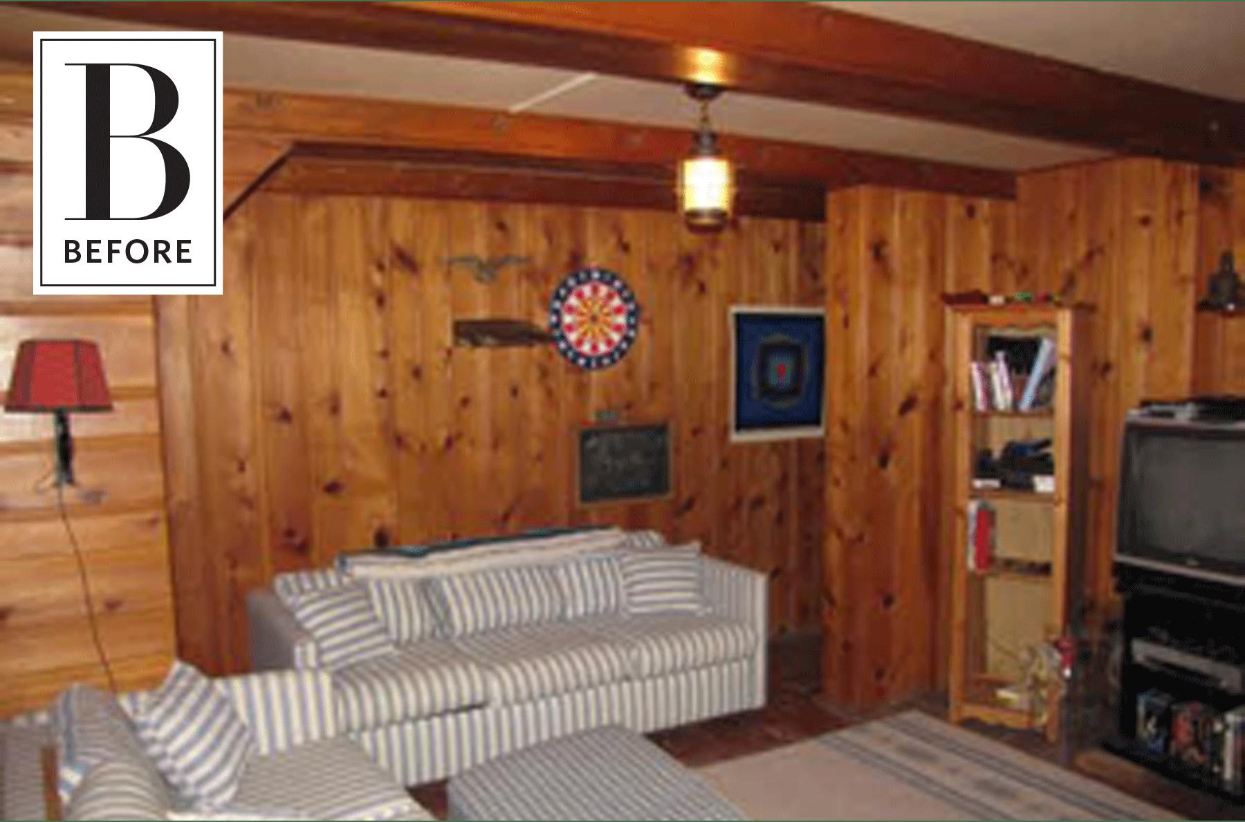 an elegant evolution for a wood paneled basement decor of my rh pinterest co uk White Wood Paneling Basement wood paneling basement
