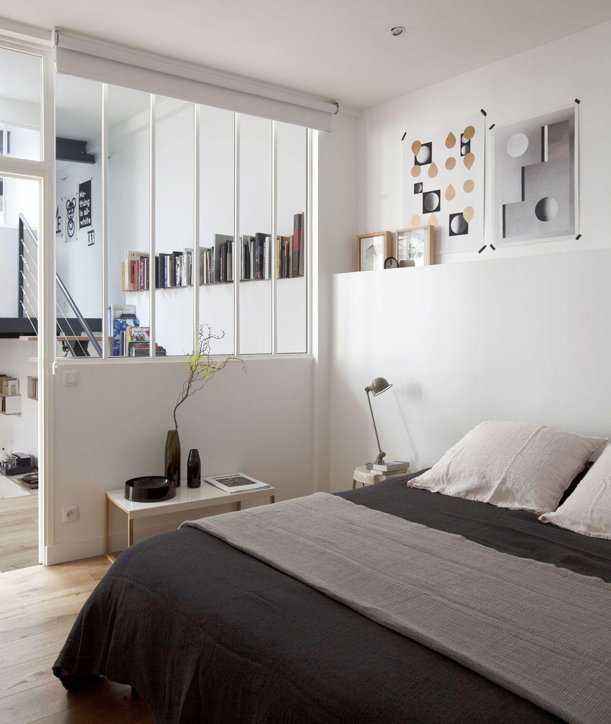 Une chambre sans fenêtre mais avec vue... grâce à la verrière ...
