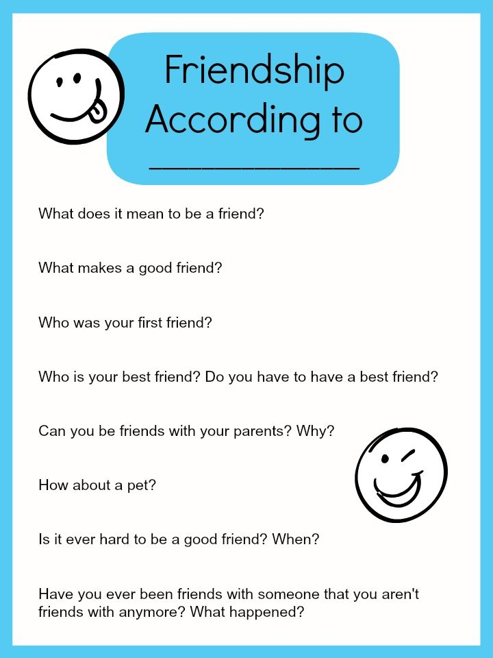 Friendship According To Your Kids Interview Questions To