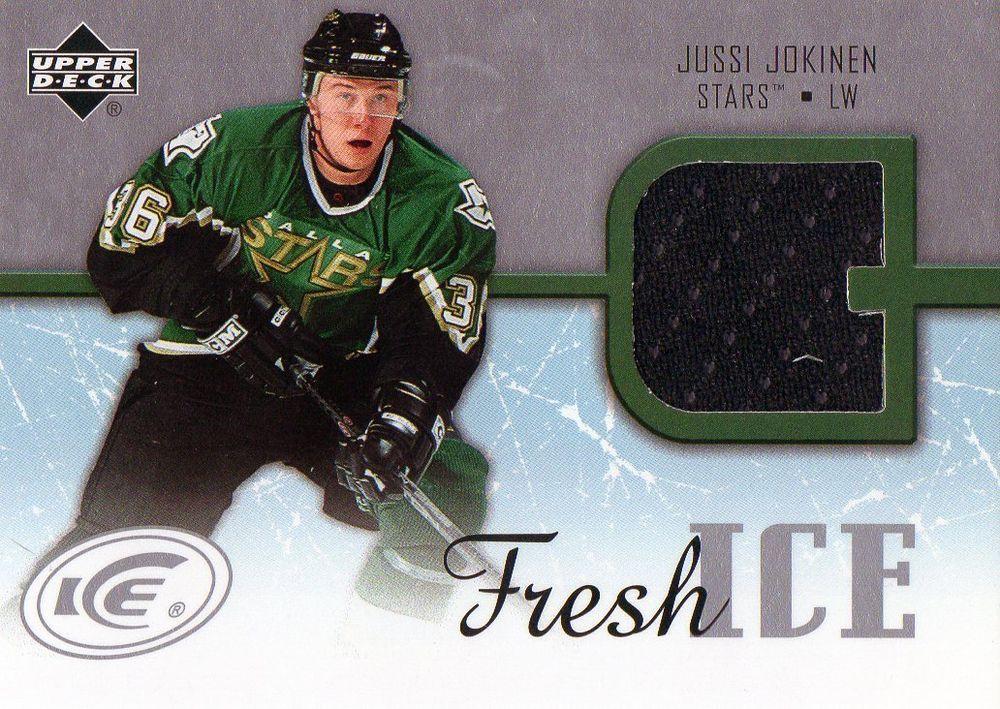 200506 upper deck jussi jokinen game used jersey card