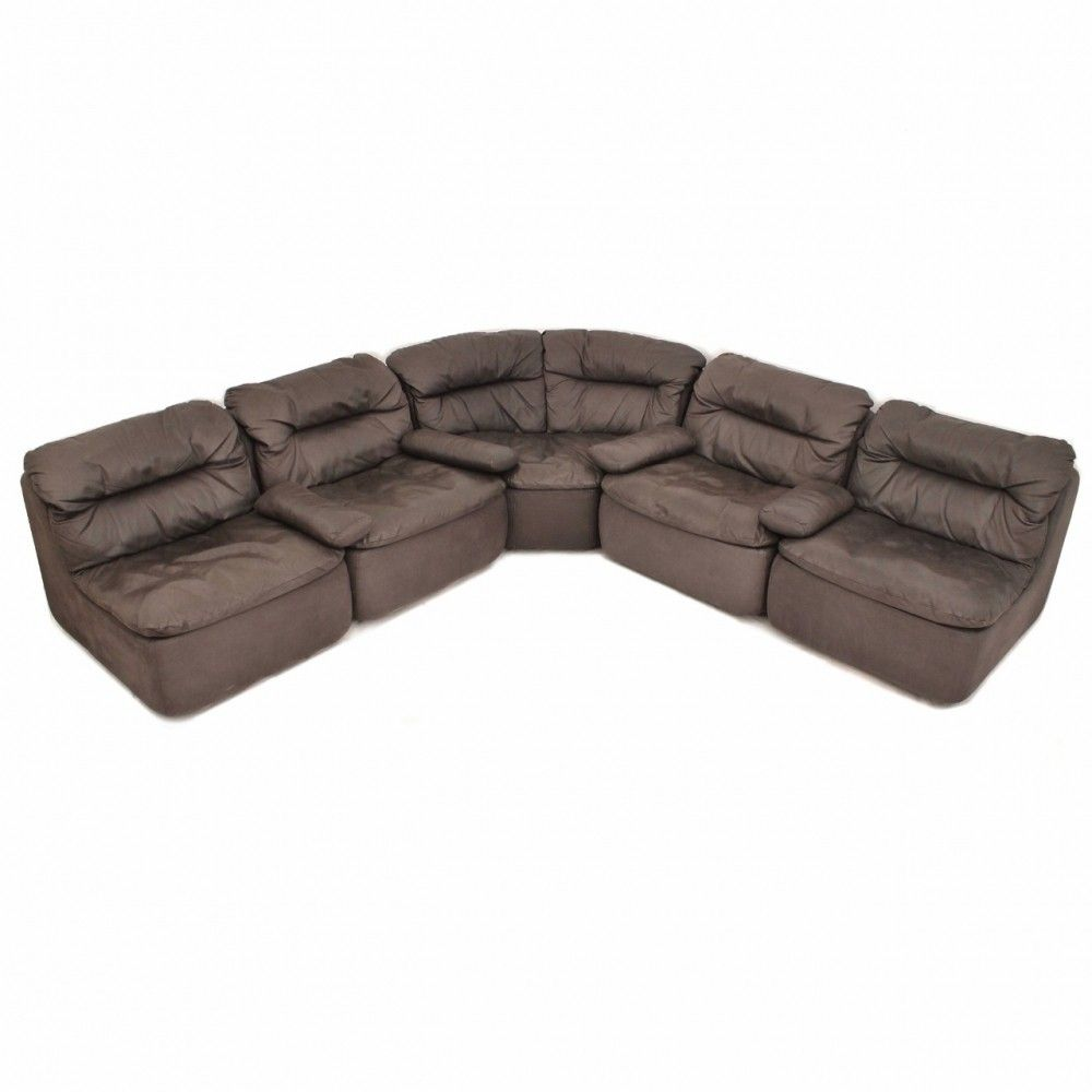 German Leather Modular Sofa By Friedrich Hill For Walter Knoll