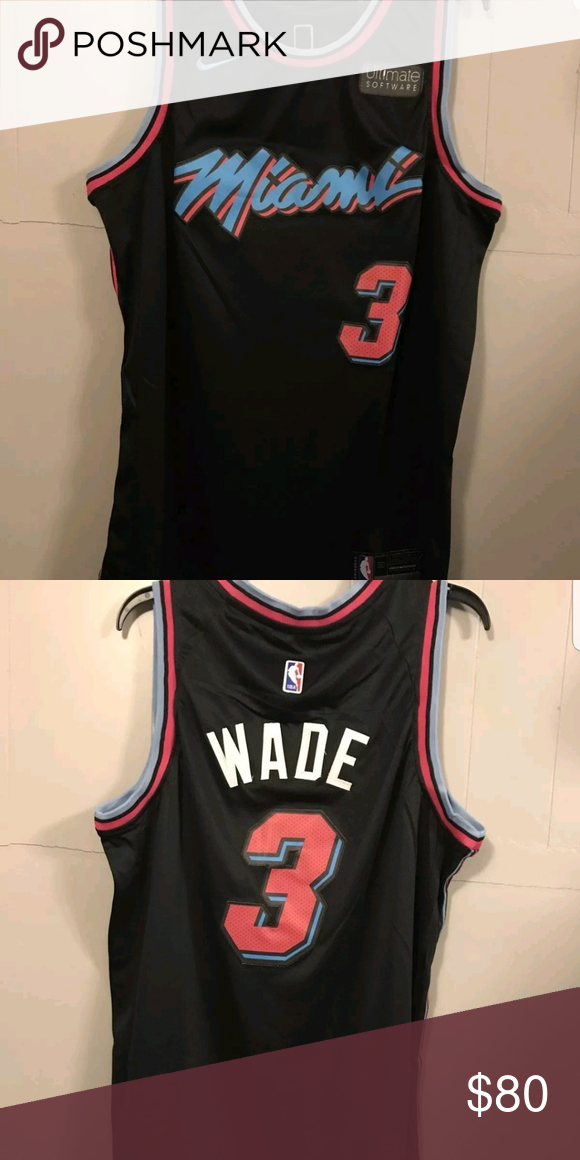 on sale 41857 875c0 Dwyane Wade Jersey Miami Vice Edition Stitched quality Mens ...