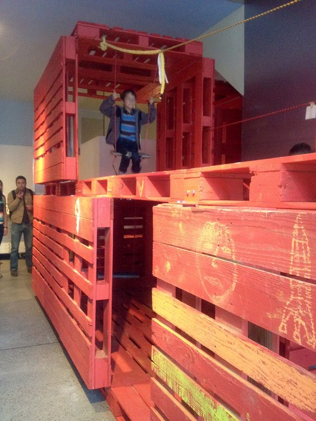 Pallet Playhouse. The StoreFrontLab In The Mission