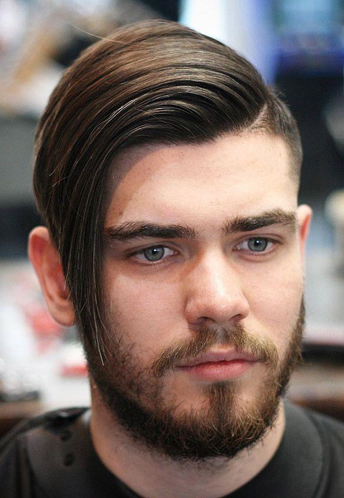 Long top short side haircut