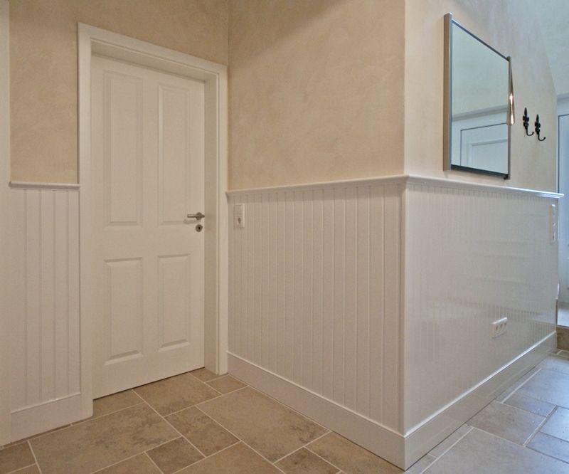 #Wandverkleidung #Eingangsbereich #Flur #Wandgestaltung #beadboard.de Bild  + Ausführung: