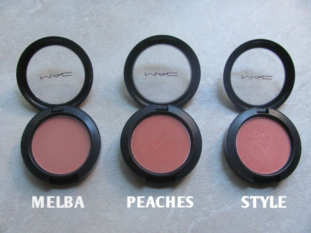 MAC Powder Blush review : Melba vs. Peaches vs. Style | Powder ...