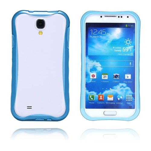 Alu Rand (Blauw) Samsung Galaxy S4 Aluminium Bumper