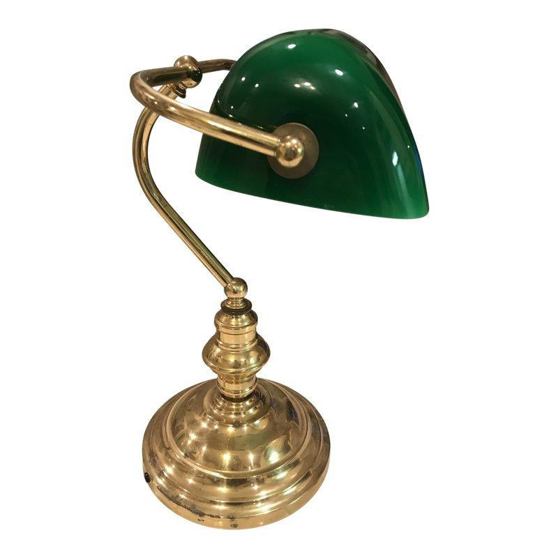 1930s Green Bankers Lamp Lamp Bankers Lamp Desk Lamps