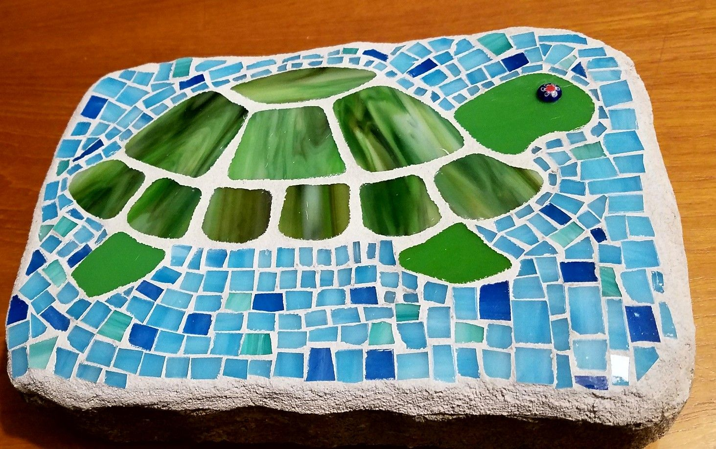 Turtle mosaic garden stone J DeVore Creations | mosaic3 | Pinterest ...