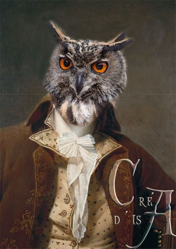 portrait ledoux chouette anthropomorphic owl pinterest jeux de soci t animal et. Black Bedroom Furniture Sets. Home Design Ideas