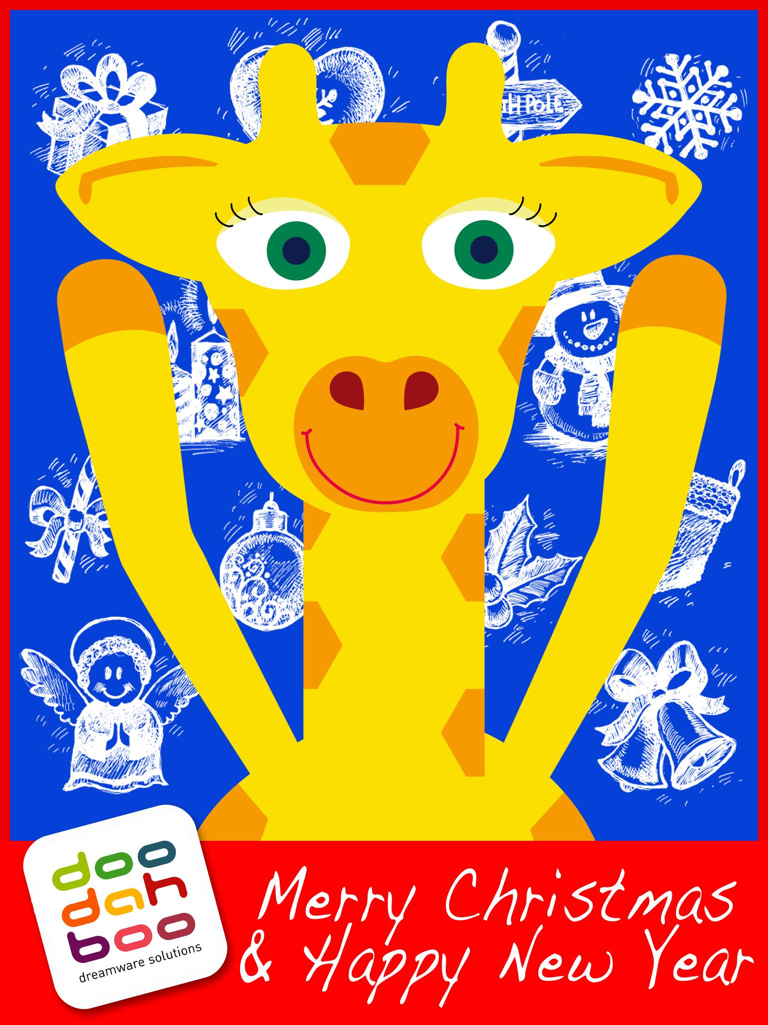 Giraffe Christmas Greetings Card Facebook Pinterest Christmas