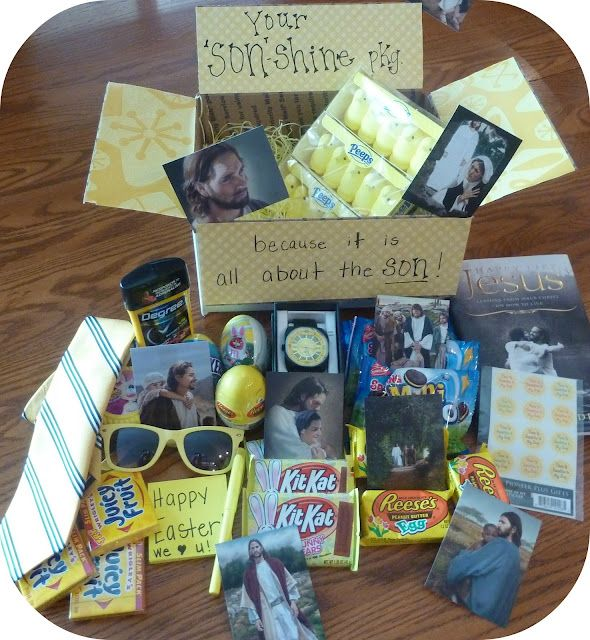 Easter missionary package sunshine package yellow tie yellow easter missionary package sunshine package yellow tie yellow sunsglasses juicy fruit gum peeps pictures of jesus etc negle Images