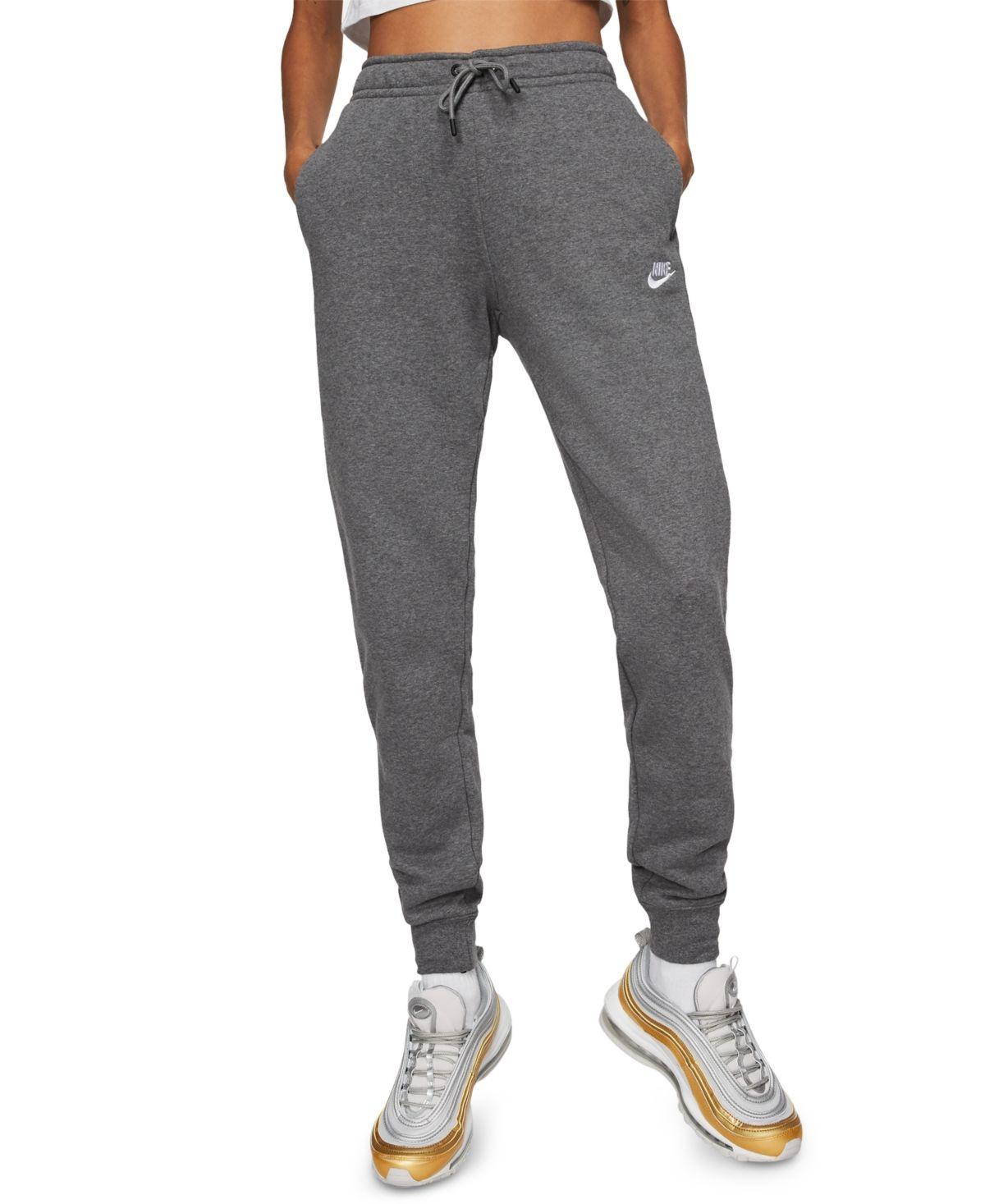 Nike Women's Sportswear Essential Fleece Joggers - Charcoal ...