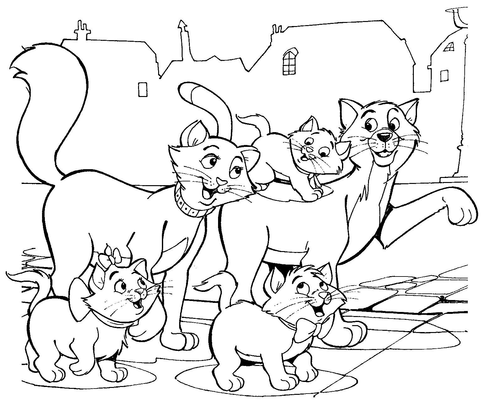Aristokatskleurplaat Png 1600 1300 Cartoon Coloring Pages Disney Coloring Pages Coloring Pages