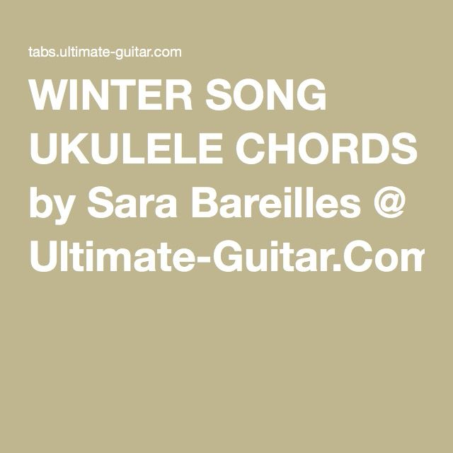 Pin By Andrea Grigg On Uke And Music Pinterest Sara Bareilles