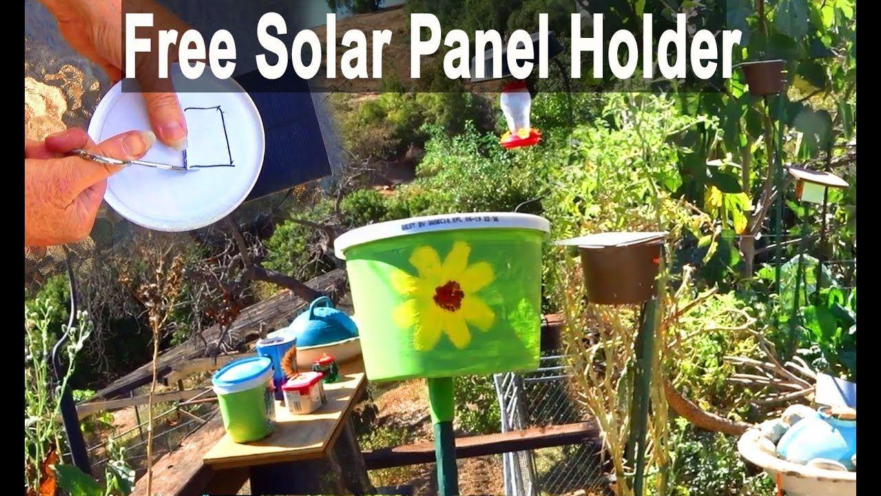 DIY Solar Water Fountain Birdbath Panel HOLDER Make Free