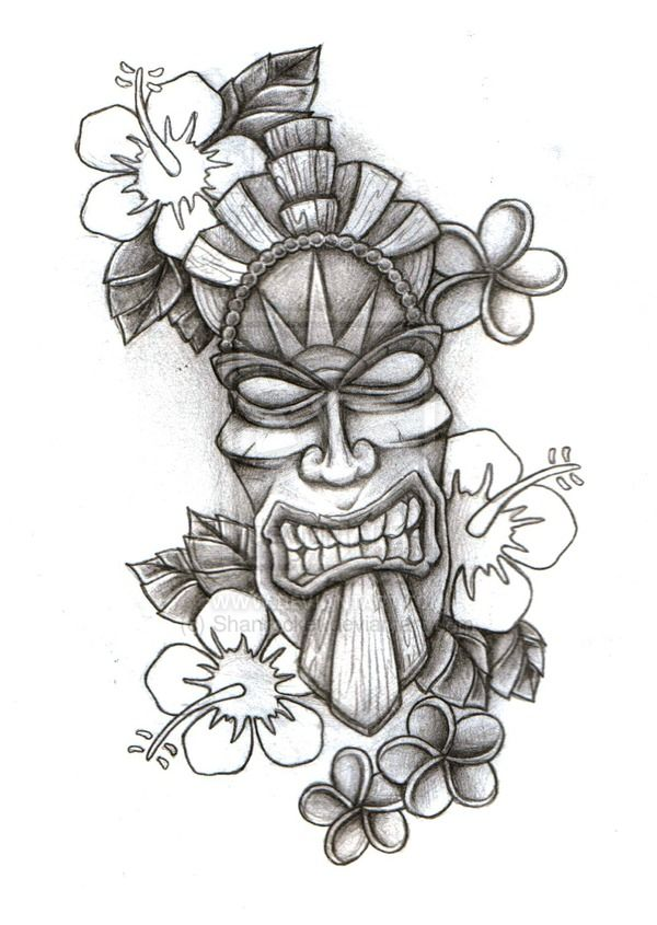 Wooden Tiki Head Drawing Image result for tiki ...