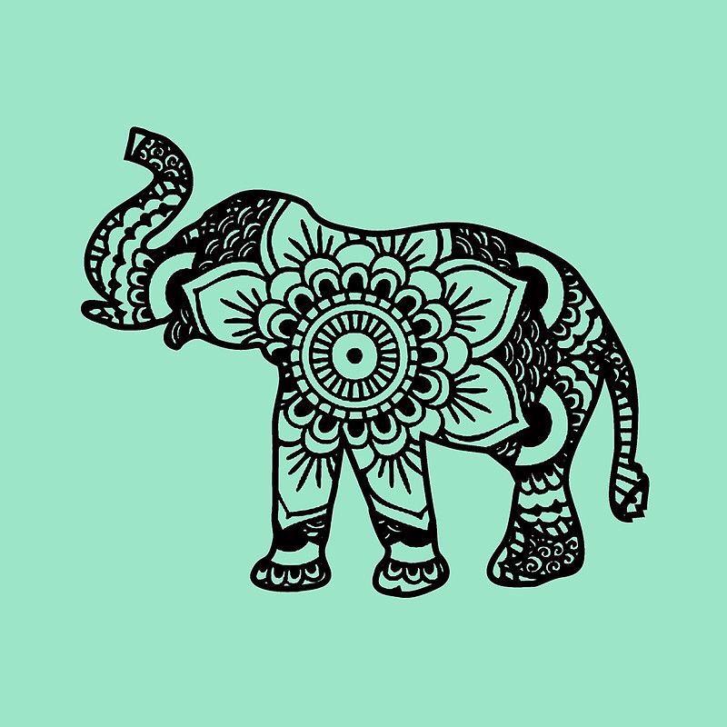Elephant Henna Tattoo Vinyl Pinterest Tattoos Elephant