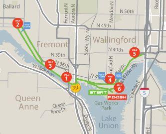 Seattle Marathon 10k Course Map | Run4Fun | Pinterest | Marathons ...
