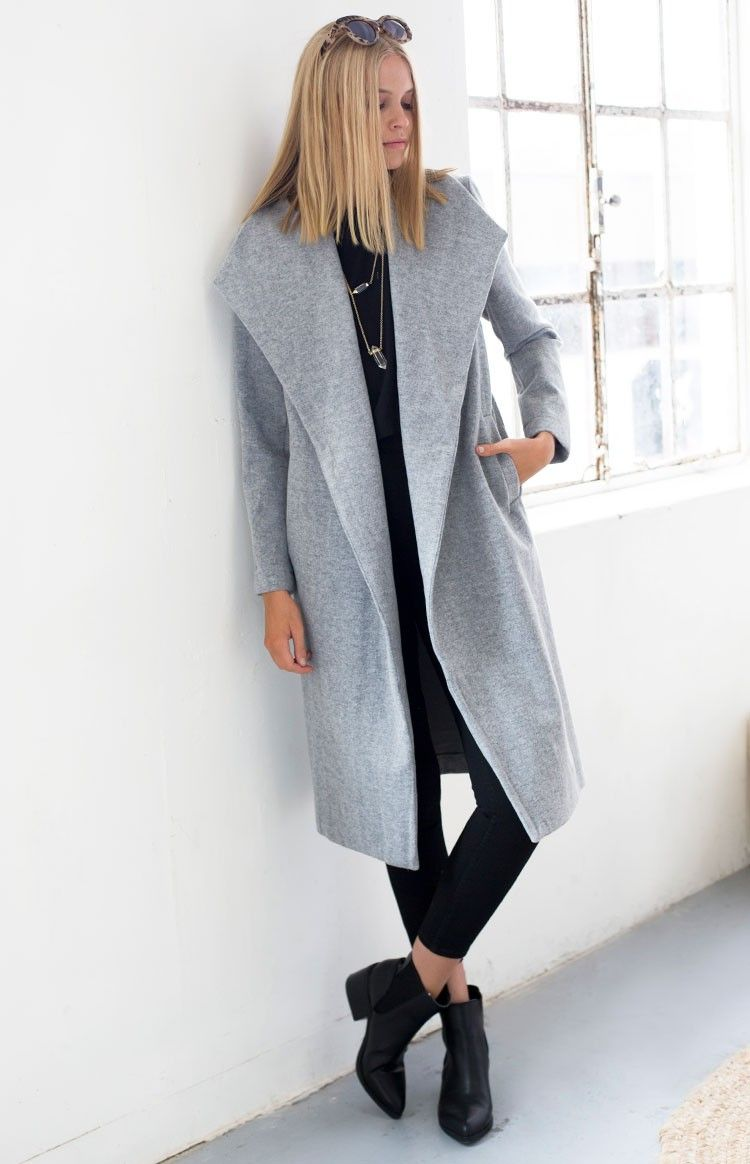 Waldorf Coat Grey | Beginning Boutique | Winter fashion ...