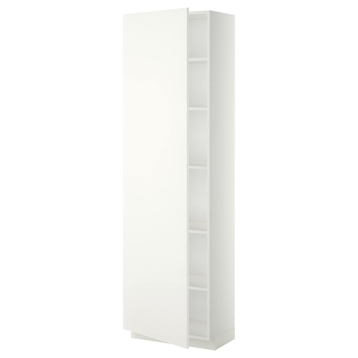 Ikea Metod Hochschrank Mit Einlegeboden Weiss Haggeby Weiss Mit Versetzbarem Boden Der Abstand Dazwischen Kann Dem Bedarf Angepasst Hochschrank Ikea Dubel