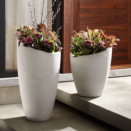 Slant Tall Planter Reviews Crate And Barrel Gray 400 x 300
