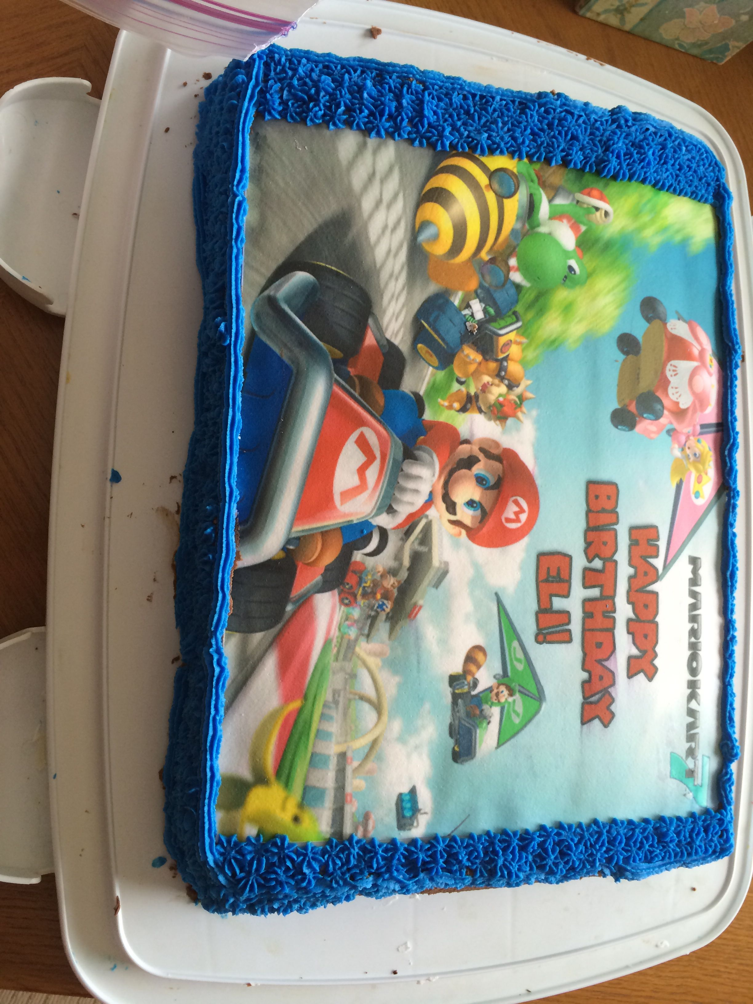 Just made this cake for my son lunch box cake made