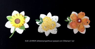 Spring Flowers using Stampin' Up! supplies.