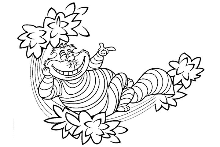 alice in wonderland coloring page # 11