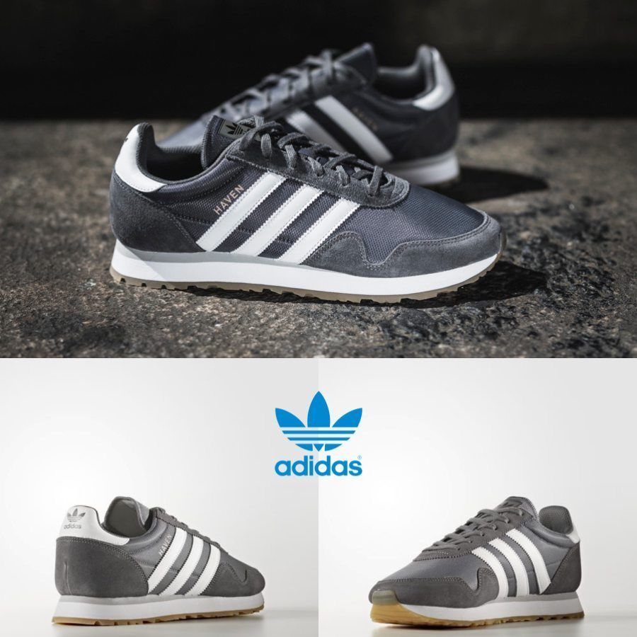 95fe6fbee320 Adidas Haven Unisex Original Grey White Brown BY9715 Size 4-11 Limited