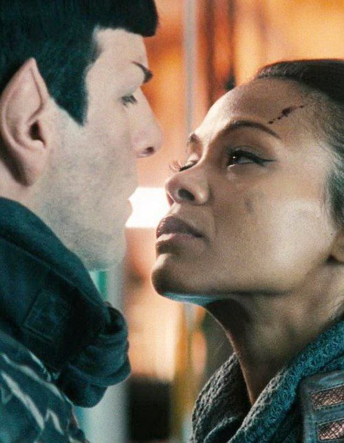 Star Trek - Spock & Uhura. I love his ears! They are so awesome!