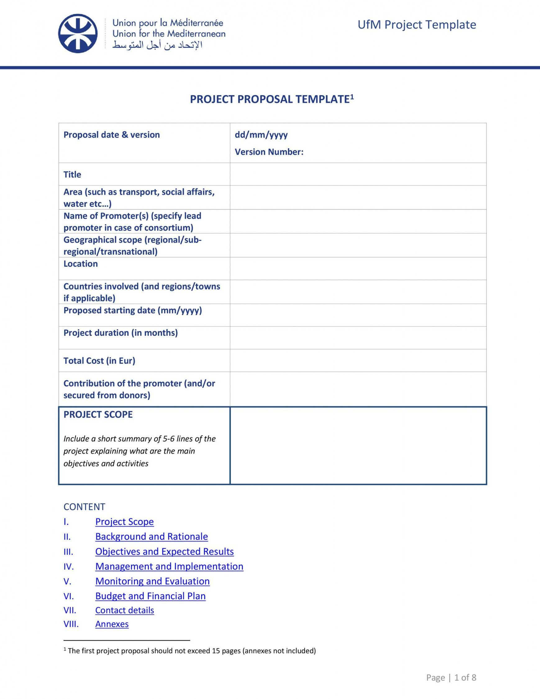 Project Management Proposal Template in 2020 Proposal