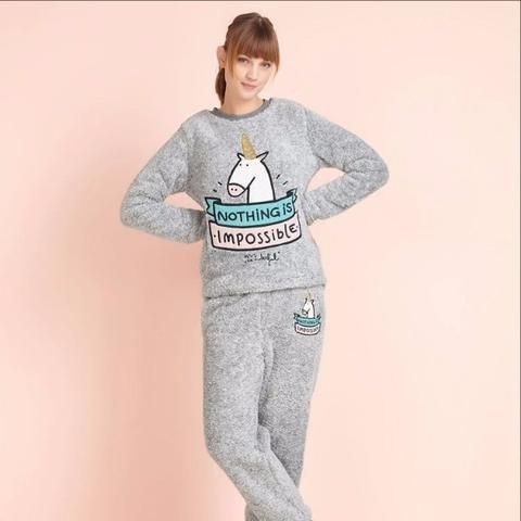 negozio online 1a054 c6b72 Warm Unicorn Fleece Sleepwear Set nel 2019 | Unicorn ...