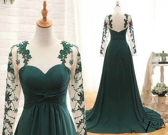 Long Sleeve Prom Dress Sweetheart A Line Pleated By