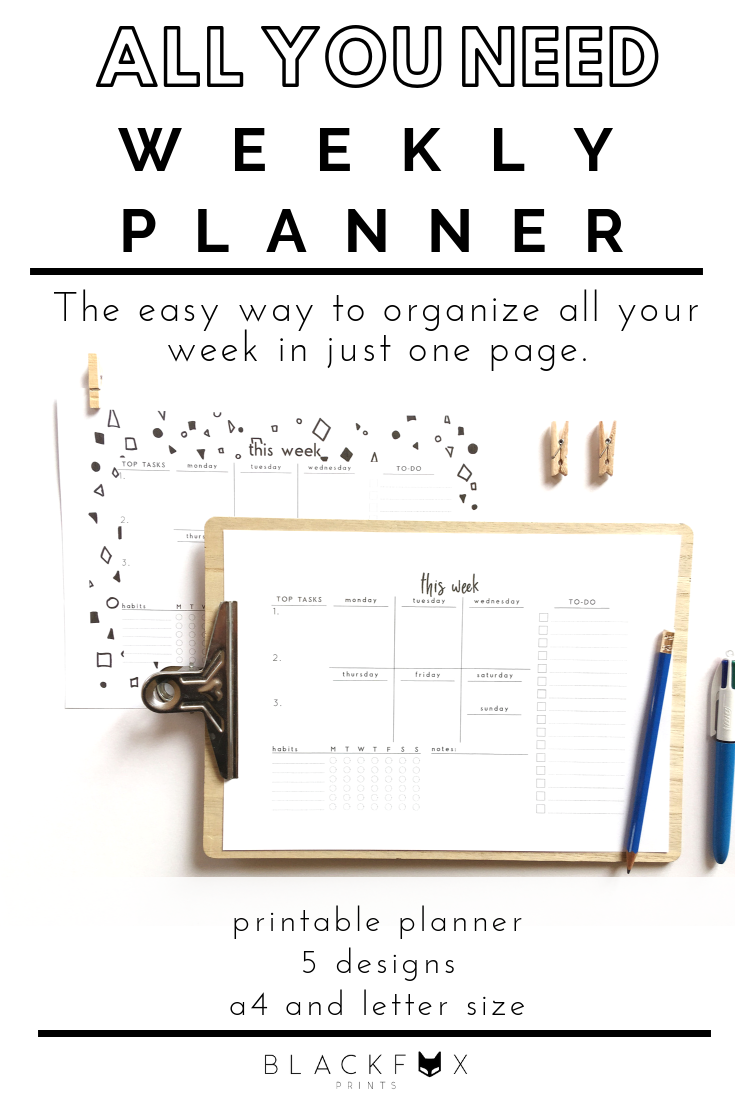 One-page mini organizer 96