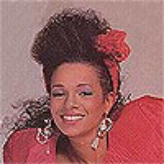 Rebbie Jackson from a 1984 magazine photo shoot.