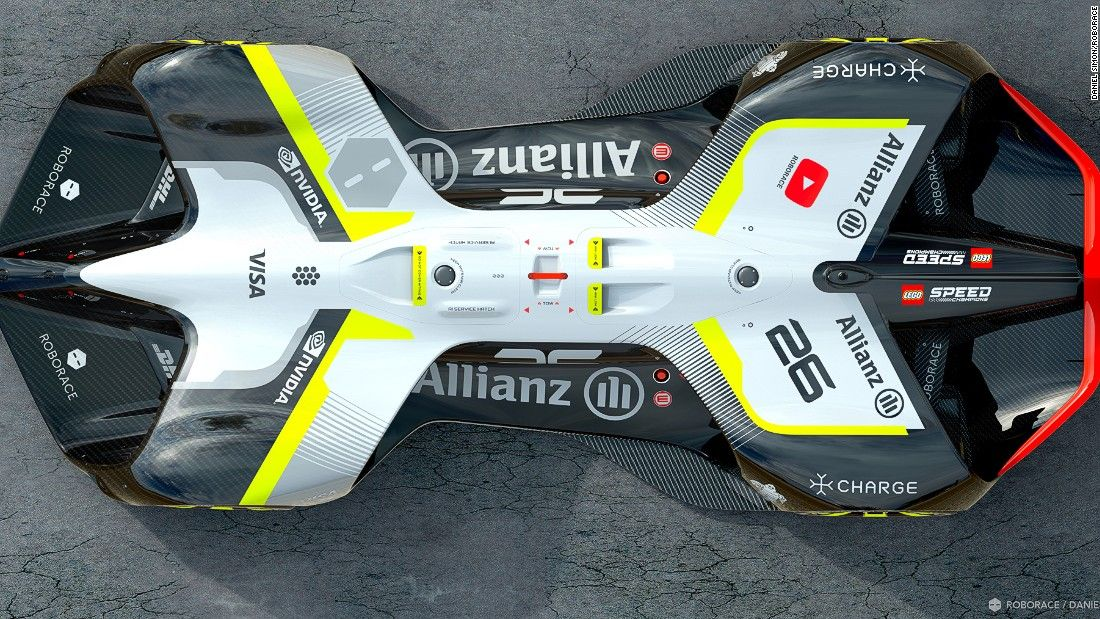 Roborace has unveiled the design for the world's first self-driving, electric-powered race car.