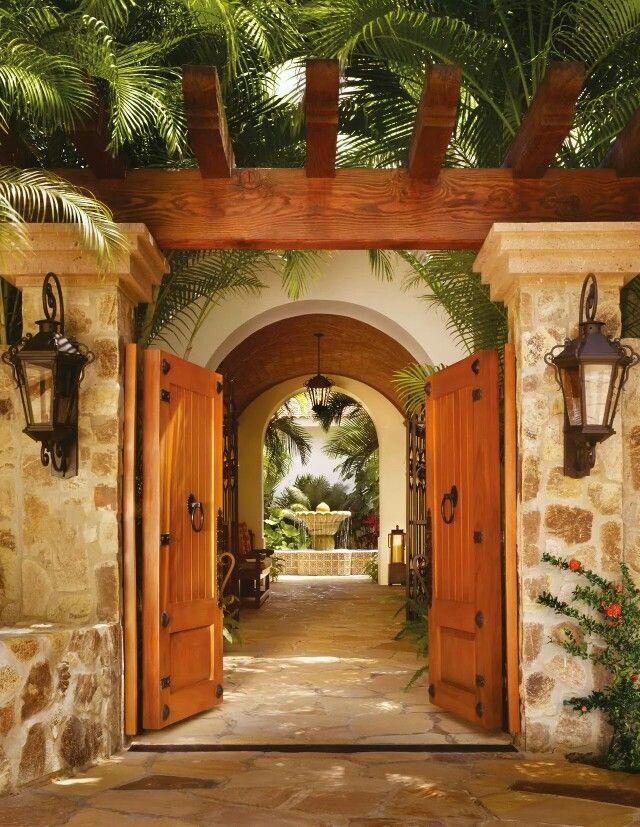 Entrada decoraci n pinterest entrada casas y fachadas for Losetas para fachadas