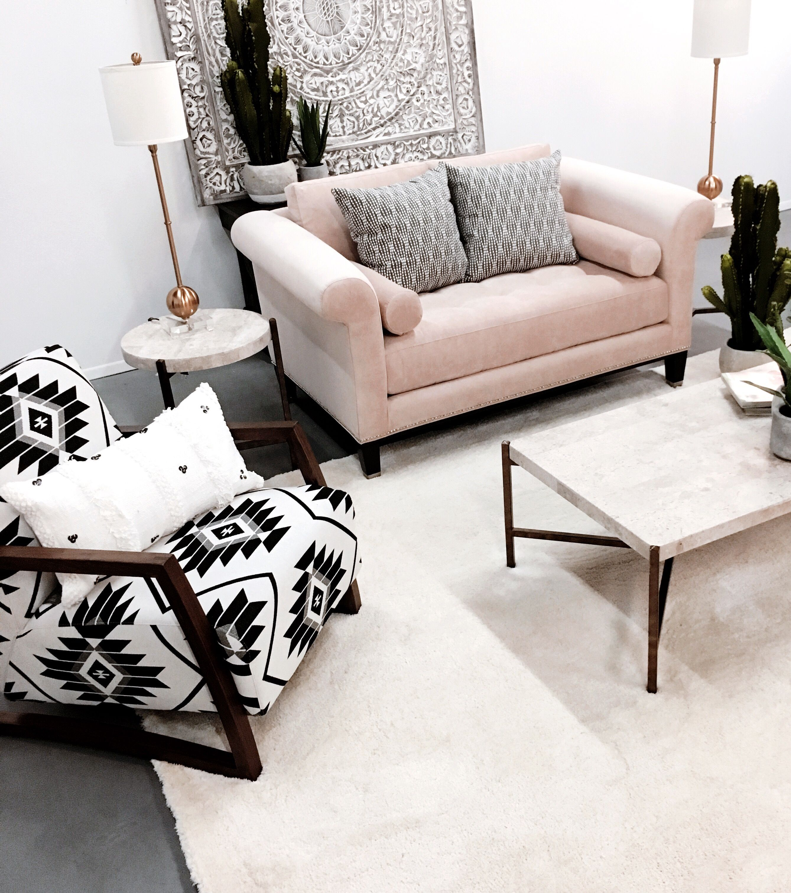Desert Chic Living Room American Home Pinkcouch Modern Southwest Southwest Decor Living Room American Home Furniture At Home Furniture Store #southwest #living #room #furniture