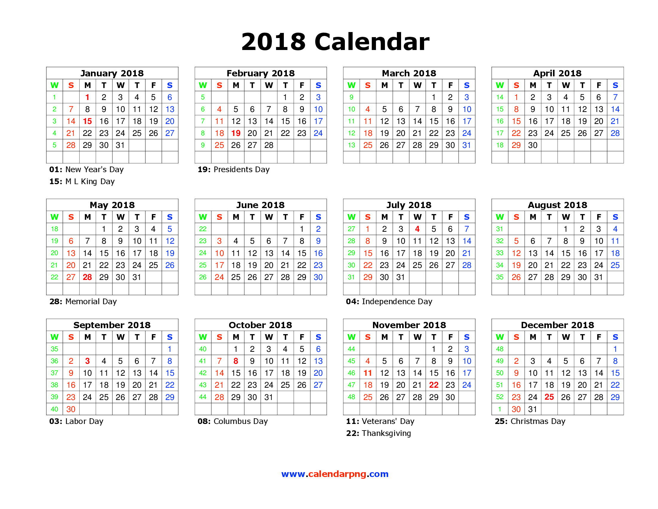 2018 calendar transparent happy new year 2018 pictures