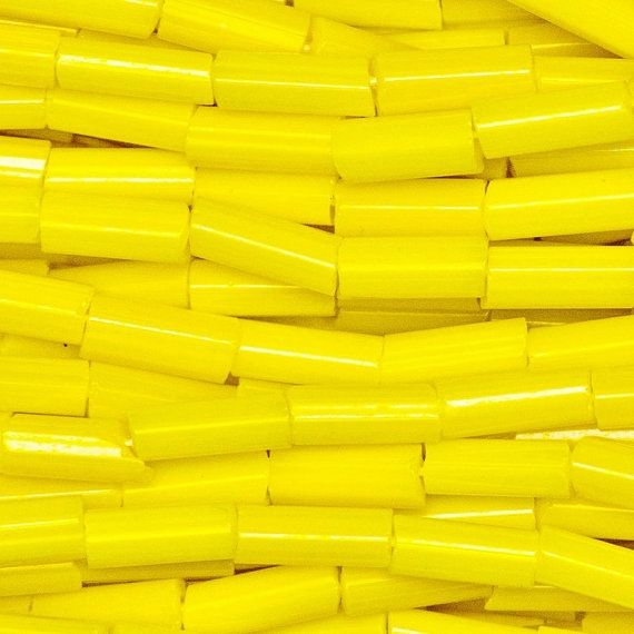 2c1e28a374b9 Size 2 Yellow Opaque Czech Glass Bugle Seed Beads By Tetra Seed Beads on  Etsy. Bulk Discounted Quantities Available.