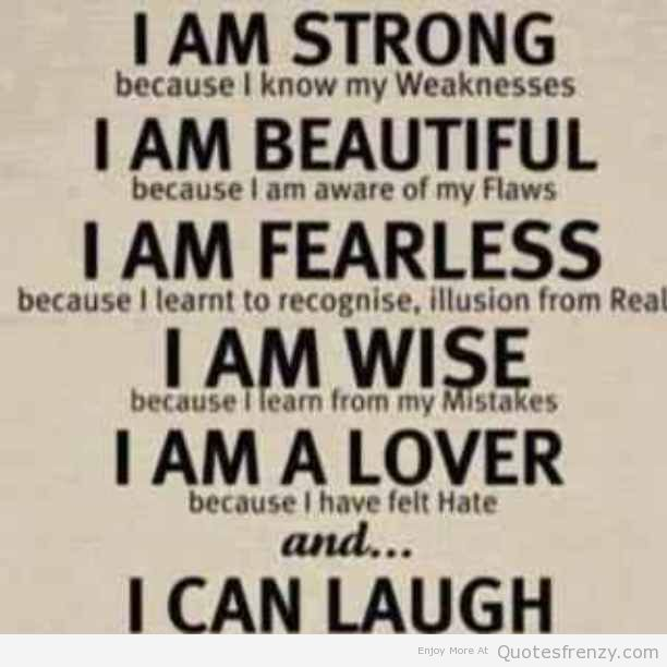 beautiful fearless strong Quotes