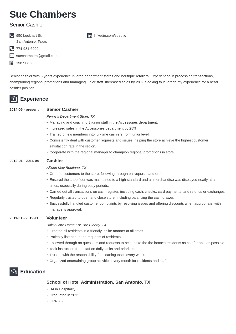 cashier resume template iconic in 2020 Resume examples